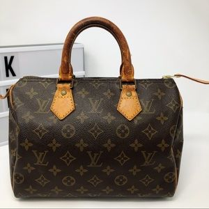 Louis Vuitton speedy 25 monogram handbag satchel